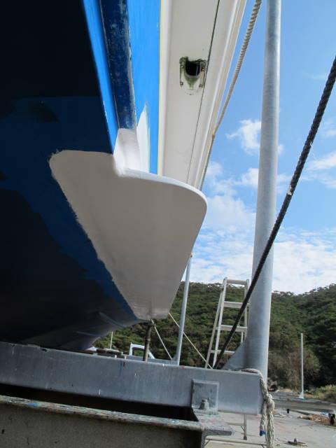 姫鯨スタビライザー(横揺れ防止板)取り付け